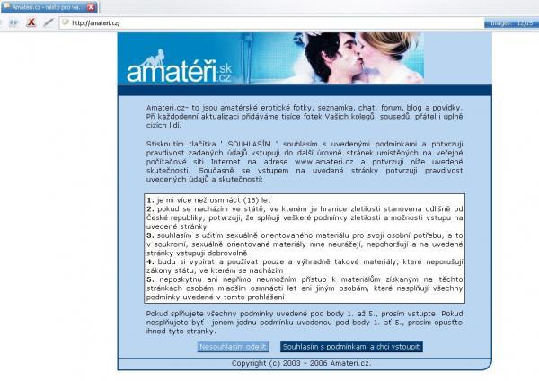 Web hosting seznamka
